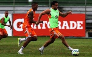 Nogueira diz que Fred ajuda muito aos jovens jogadores (Foto: Fluminense FC)