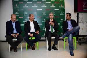 Da da esquerda para a direita: Dilson Motta, Sinval Andrade, Peter Siemsen e Marcelo Frazão (Foto: Divulgação)
