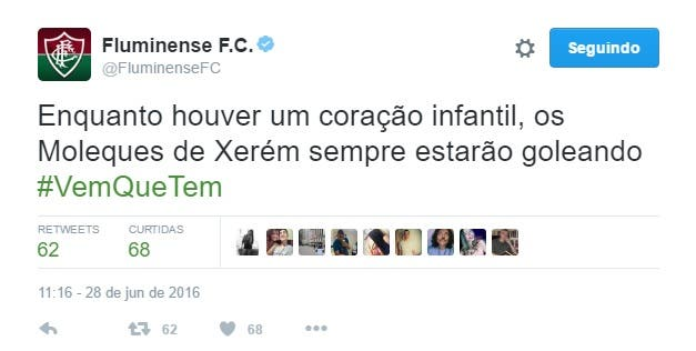 Flu goleia Vasco na base e perfil oficial do Tricolor provoca o ... 39930b78d6d78