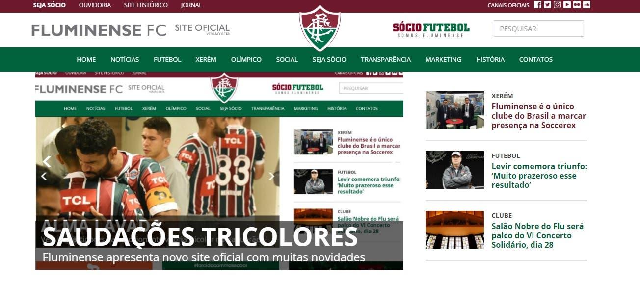 O site oficial do Fluminense está de cara nova. O layout 56c414ee4790a