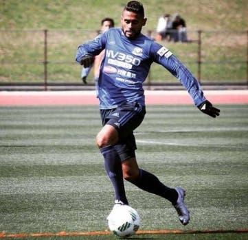 Atacante Kayke, também ex-Flamengo, joga no Yokohama, do Japão