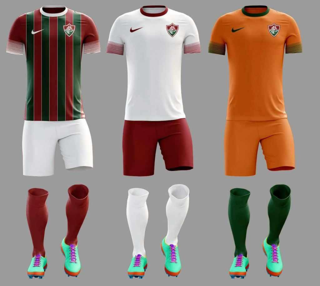 4750515f792bd Modelos de camisa do Flu com símbolo da Nike voltam a proliferar nas ...