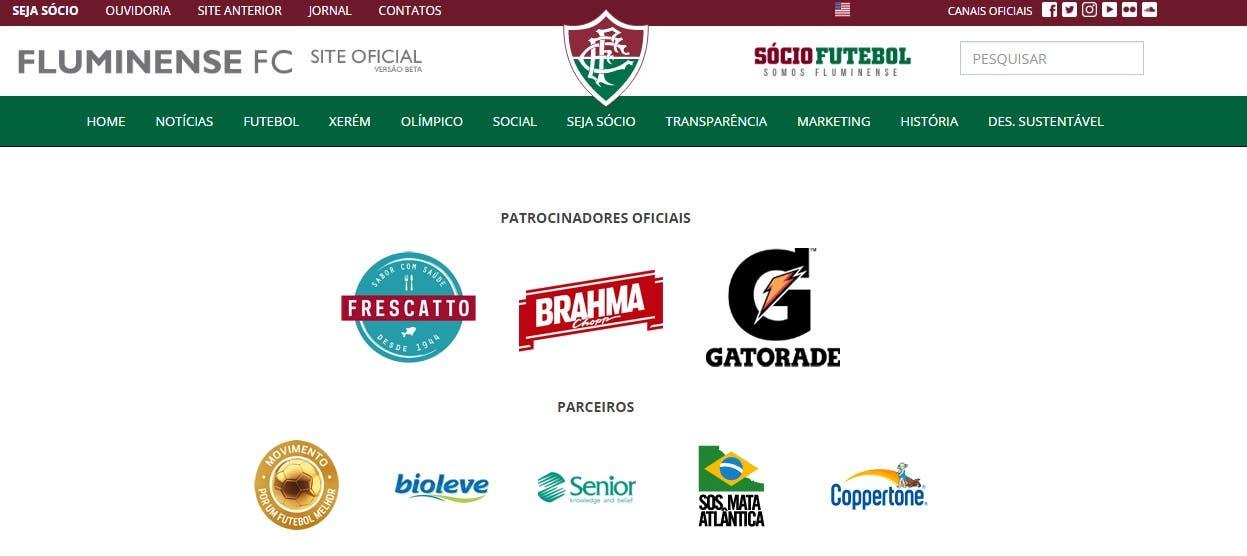 Logos da Caixa e Voxx também foram retirados do site oficial do Fluminense   e06e5bb78d27d