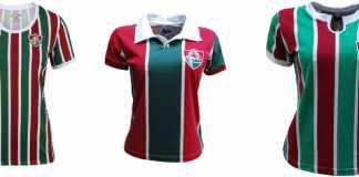 69c45a456b52e Camisas retrô e oficial femininas do Fluzão você também encontra na.