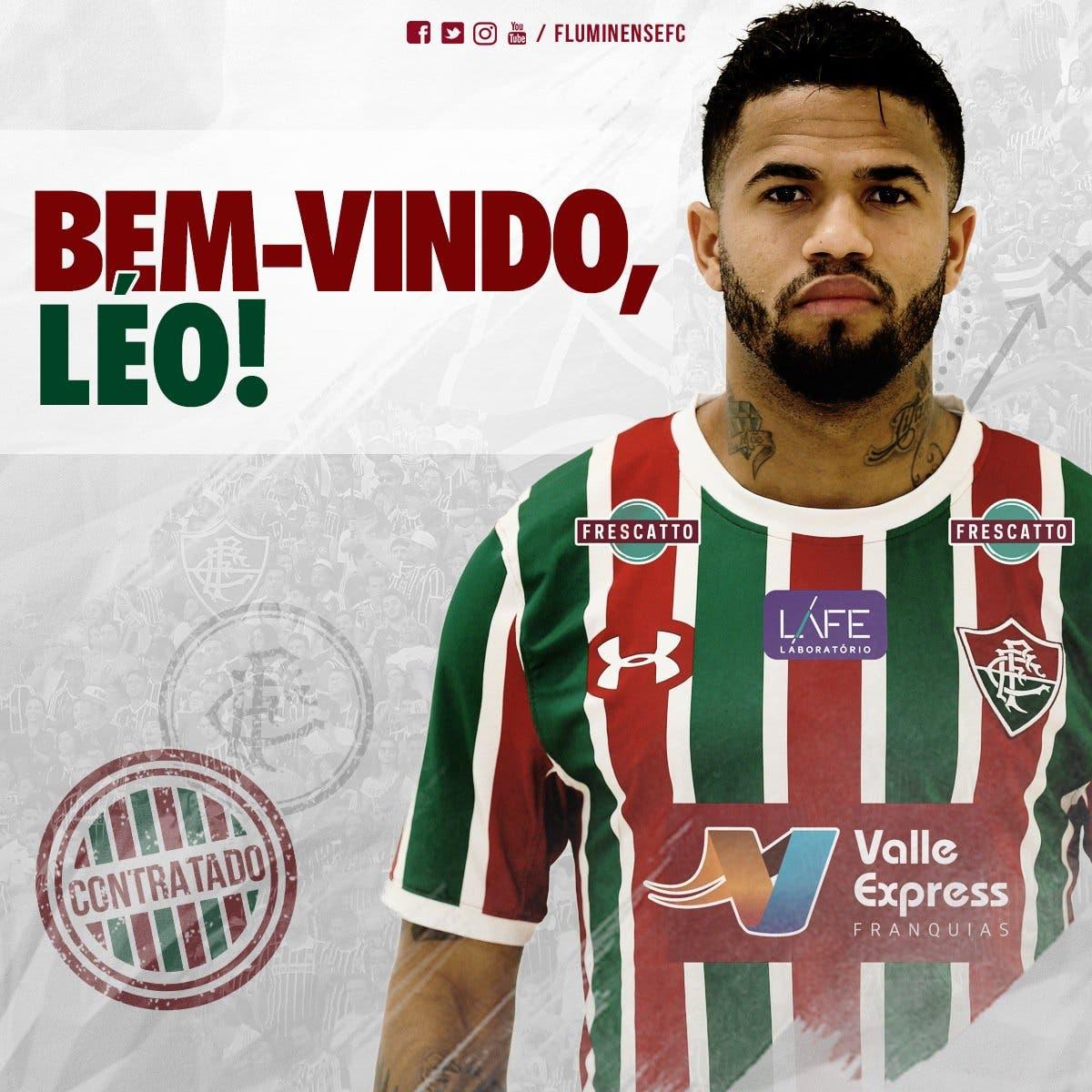 f7b6569ea6 É oficial! Fluminense anuncia a contratação de Léo