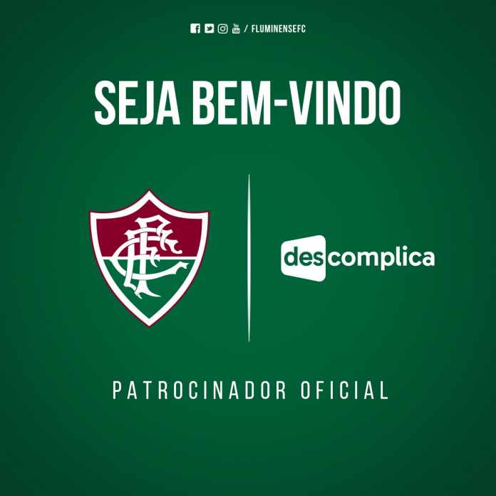 """22a88c4446 O Fluminense anunciou na manhã desta sexta-feira um acordo de patrocínio  com o """"Descomplica"""""""