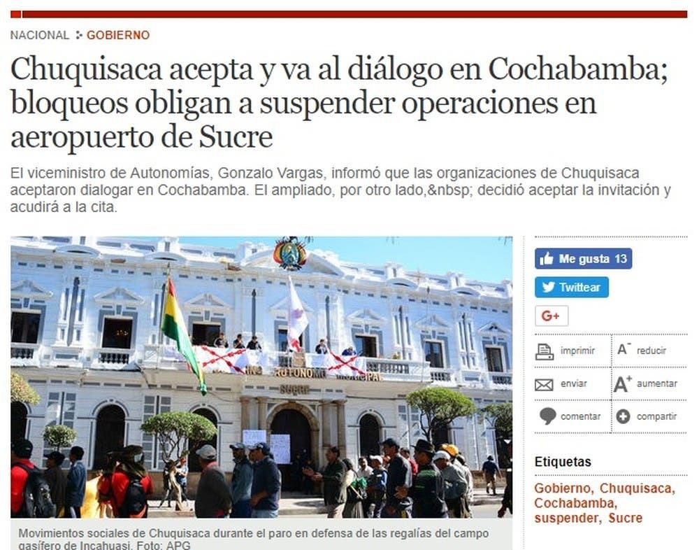 Otras zonas para busca pareja de Chuquisaca en Sucre