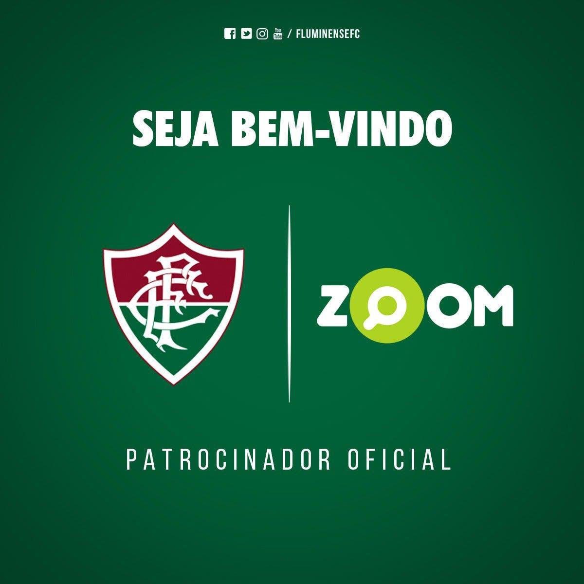 47f37a04b0 Fluminense anuncia oficialmente novo patrocínio. Zoom também patrocina o ...