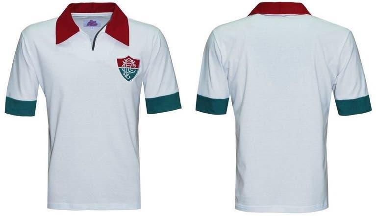 Camisa retrô do Fluzão em homenagem ao título de 64  bec4424f89a98