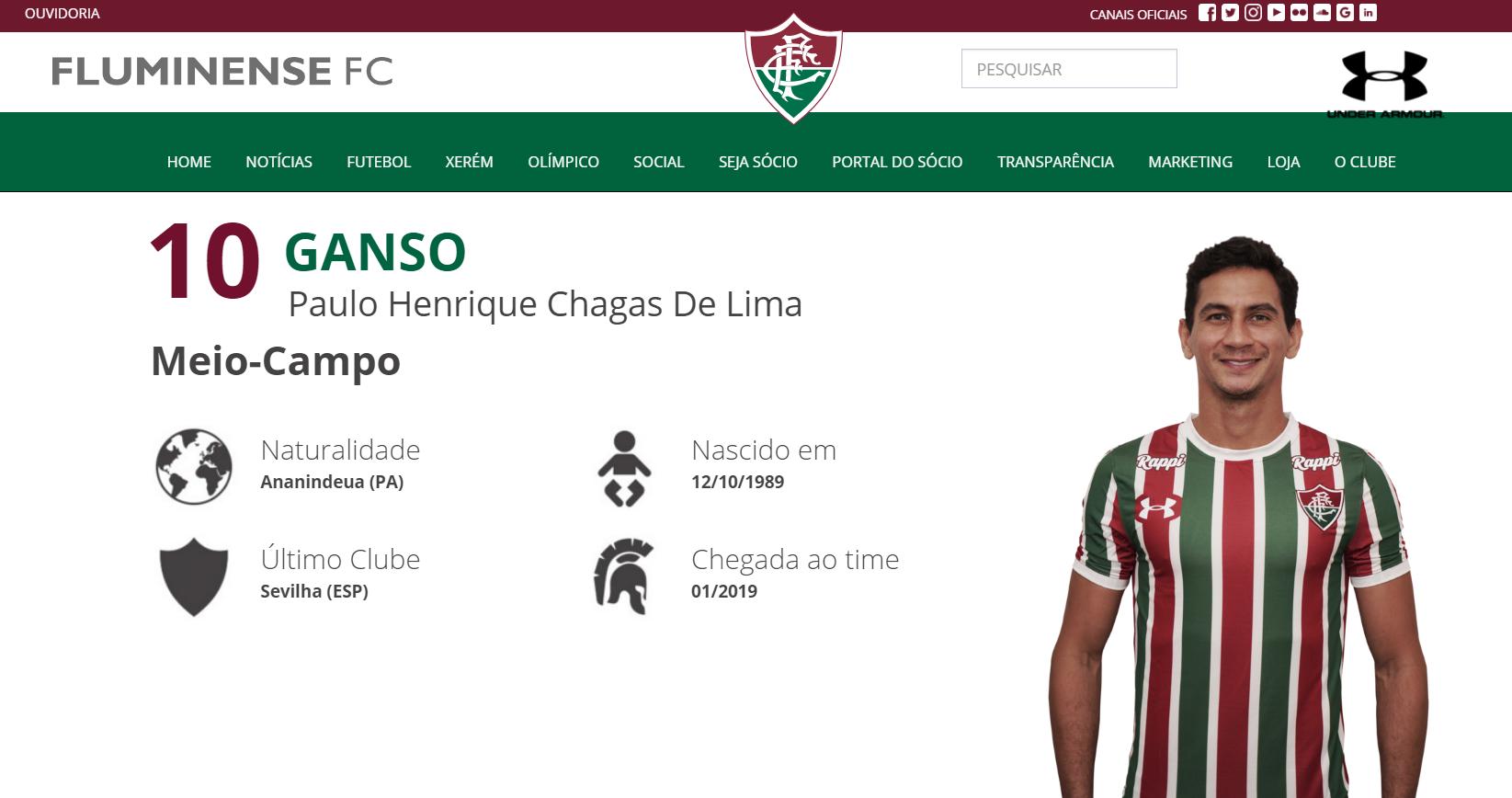 O Fluminense anunciou oficialmente nesta quinta-feira a contratação de  Paulo Henrique Ganso. O meia rescindiu o contrato com o Sevilla (ESP) e  assinou em ... be711eb257dae